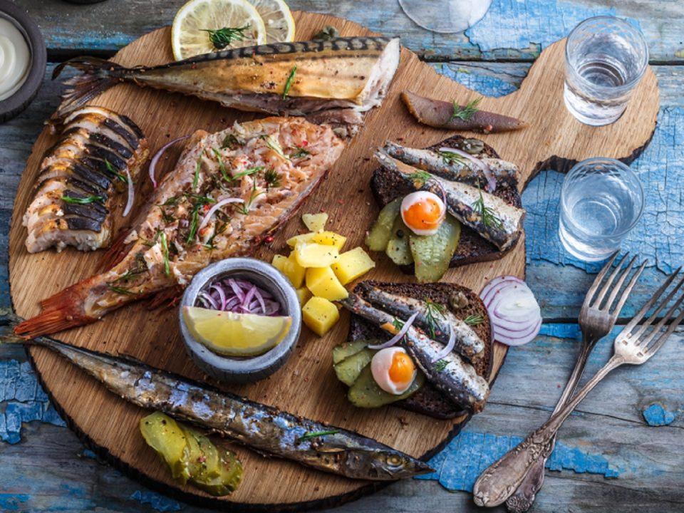 tiefgefrorene makrele